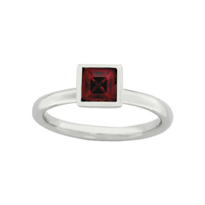 Personally Stackable Sterling Silver January Crystal Ring