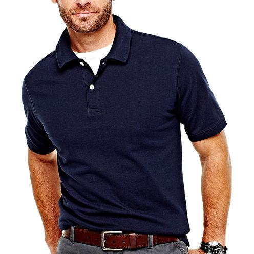 3-Pk. St. John's Bay Legacy Pique Mens Polo Shirt