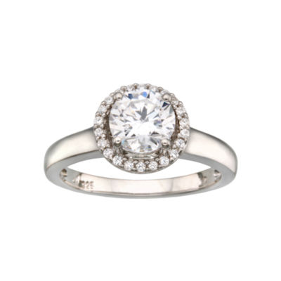 DiamonArt® Framed Round Ring Sterling
