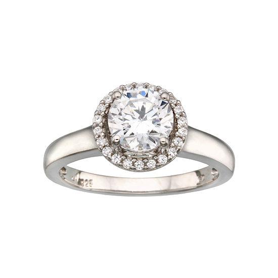 DiamonArt® 1 1/18 CTTW Cubic Zirconia Sterling Silver Ring