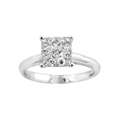 Brilliant Dream™  1/2 CT. T.W. Princess-Style Engagement Ring