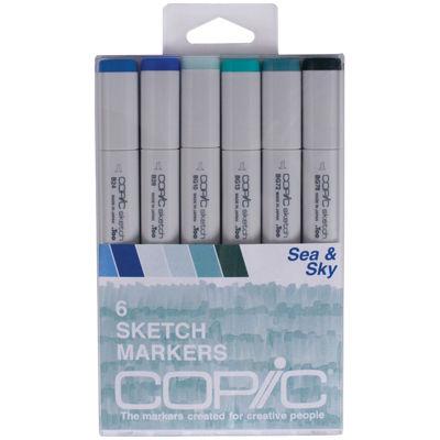 Copic 6-pk. Sketch Markers - Sea & Sky