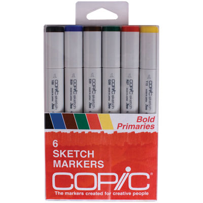 Copic 6-pc. Sketch Markers - Bold Primaries