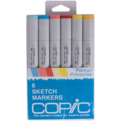 Copic 6-pk. Sketch Markers - Perfect Primaries