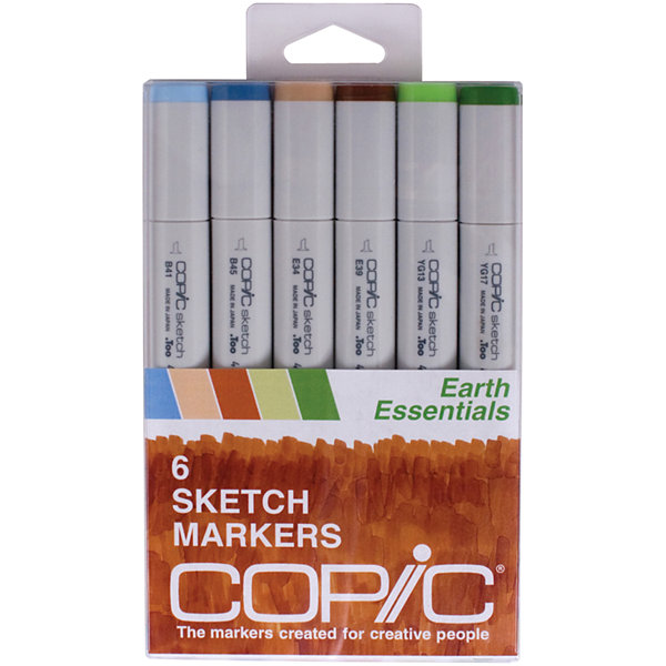 Copic 6-pk. Sketch Markers - Earth Essentials