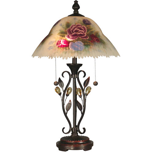 Dale Tiffany™ Roselaine Hand-Painted Table Lamp