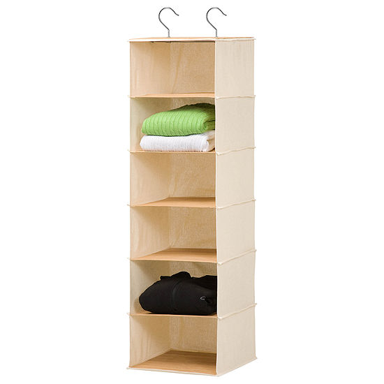 Honey-Can-Do® 6-Shelf Bamboo Hanging Organizer
