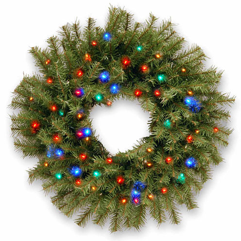 """National Tree Company® 24"""" Norwood Fir Battery-Operated LED Wreath"""