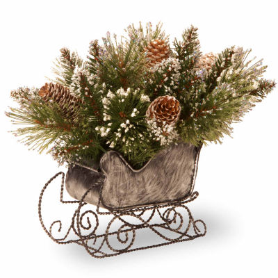 National Tree Co 10' Glittery Bristle Pine Sleigh