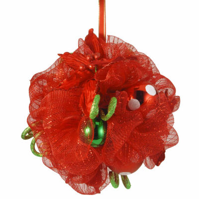 National Tree Co 12' Decorative Coll Ribbon Kiss'g Ball