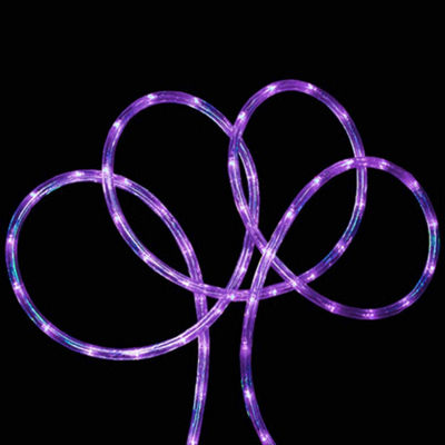 "18' Purple LED Indoor/Outdoor Christmas Rope Lights with 2"" Bulb Spacing"""