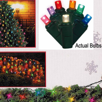 4' X 6' Multi-Color LED Wide Angle Net Style Christmas Lights with Green Wire