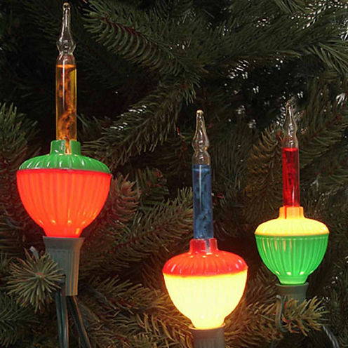 Pack Of 3 Multi-Color C7 Bubble Light ReplacementChristmas Bulbs