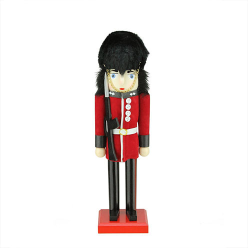 "14"" Wooden Red & Black Royal Guard Nutcracker"