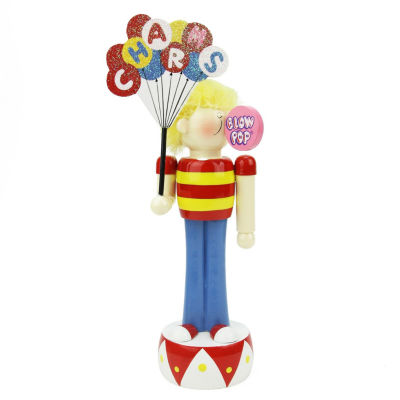 "10.75"" Charms Blow Pop Wooden Boy Figurine"