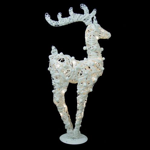 "36"" Glittered LED Lighted Reindeer"