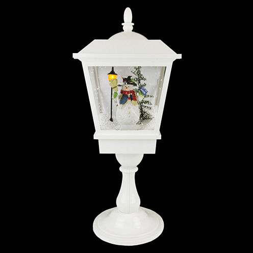 """25.25"""" Lighted Musical Snowman Snowing"""