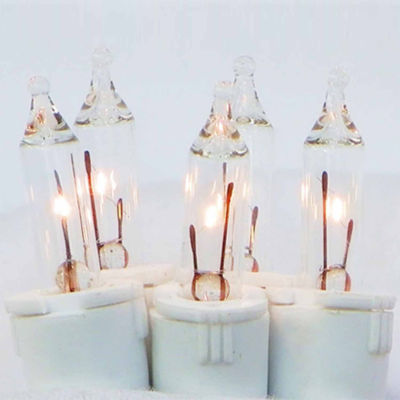 100Ct Clear Perm-O-Snap Mini Twinkle Christmas Light Set For Curtain with White Wire