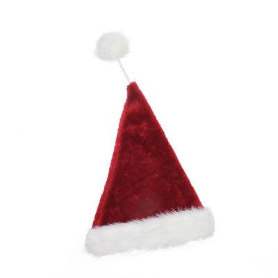 "21"" Whimsical Extra Soft Tethered Pom Pom Santa Claus Hat"