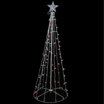 5' Red & Green LED Lighted Outdoor Twinkling Christmas Tree Yard Art