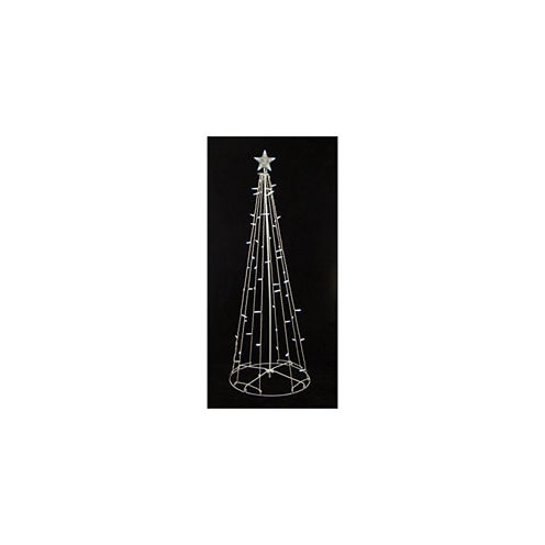 9' Lighted Outdoor Christmas Cone Tree Yard Art with Clear Lights