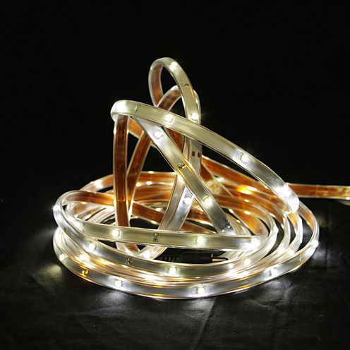 18' Pure White LED Indoor/Outdoor Linear Tape Lighting with White Finish