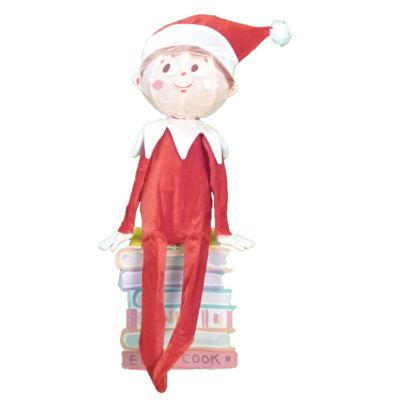 "32"" Pre-Lit Elf On The Shelf 3-D Sitting Elf YardArt with Clear Lights"""