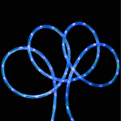 """18' Blue LED Indoor/Outdoor Rope Lights with 2"""" Bulb Spacing"""