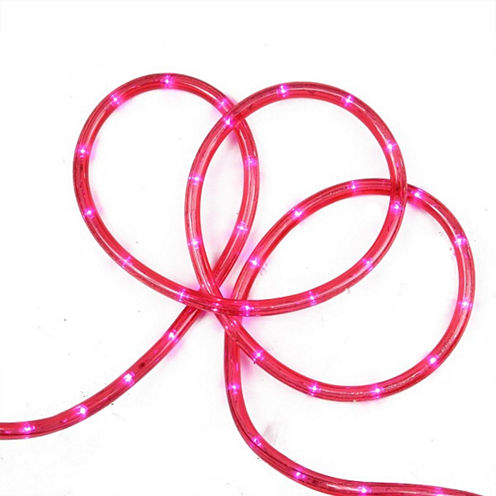 """18' Pink LED Indoor/Outdoor Rope Lights with 2"""" Bulb Spacing"""