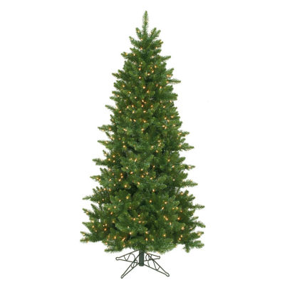 "10' X 62"" Pre-Lit Eastern Pine Slim Artificial Christmas Tree with Clear Lights"