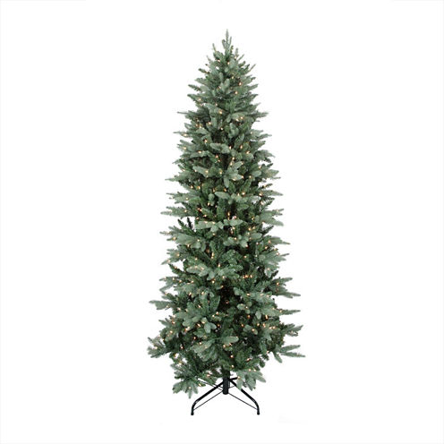 "12' X 62"" Pre-Lit Washington Frasier Fir Slim Artificial Christmas Tree with Clear Lights"