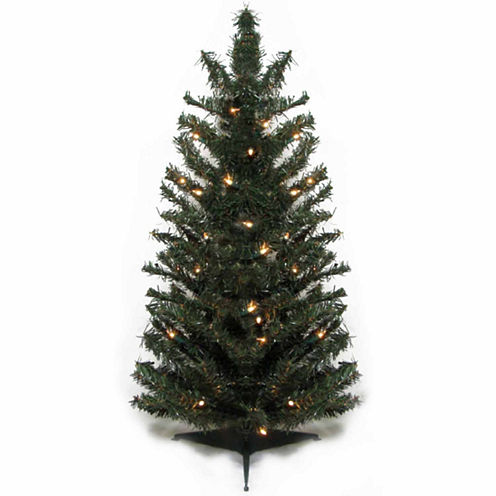 3' Pre-Lit Canadian Pine Artificial Christmas Treewith Clear Lights