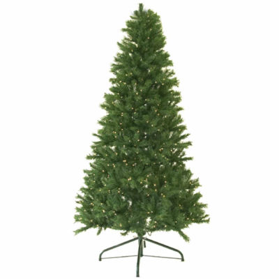 4' Pre-Lit Canadian Pine Artificial Christmas Tree- Candlelight LED Lights