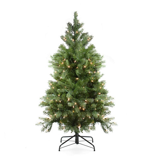 4' Pre-Lit Noble Fir Full Artificial Christmas Tree with Clear Lights