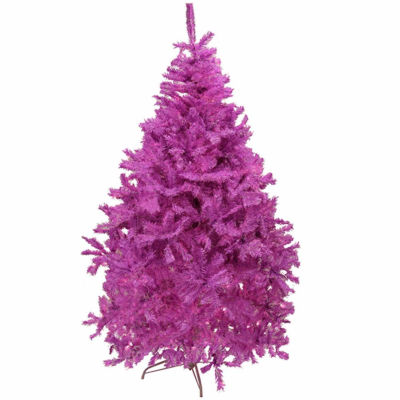 7.5' Orchid Pink Cedar Pine Artificial Christmas Tree - Unlit
