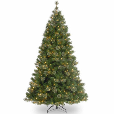 "6.5' x 38"" Pre-Lit Atlanta Mixed Cashmere Pine Medium Artificial Christmas Tree with Clear Lights"""