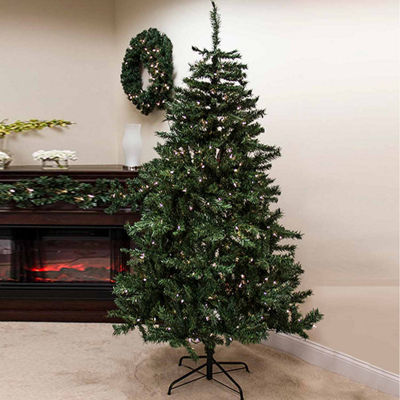 6.5' Pre-Lit Traditional Mixed Pine Artificial Christmas Tree with Clear Lights