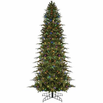 6' Pre-Lit Slim Palisade Artificial Christmas Tree- Multi LED Lights