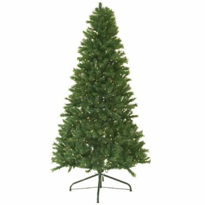 7' Pre-Lit Canadian Pine Artificial Christmas Treewith Clear Lights