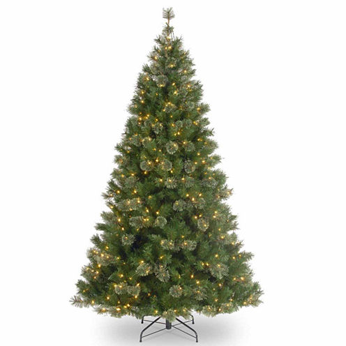 "7.5' x 42"" Pre-Lit Atlanta Mixed Cashmere Pine Medium Artificial Christmas Tree with Clear Lights"""