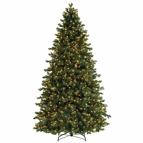 7.5' Pre-Lit Savannah Spruce Artificial ChristmasTree with Clear Lights
