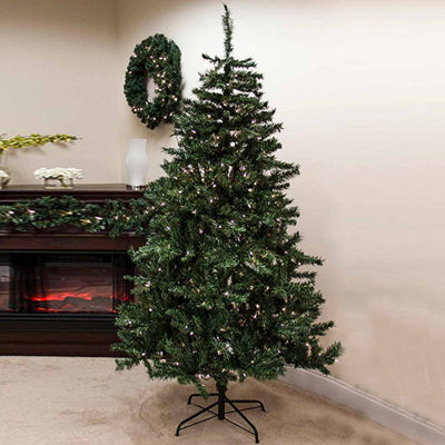 7.5' Pre-Lit Traditional Mixed Pine Artificial Christmas Tree with Clear Lights