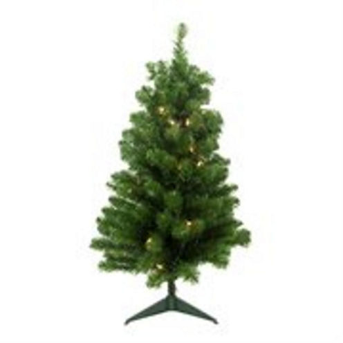 """4' x 25"""" Pre-Lit Noble Pine Artificial Christmas Tree with Clear Lights"""""""