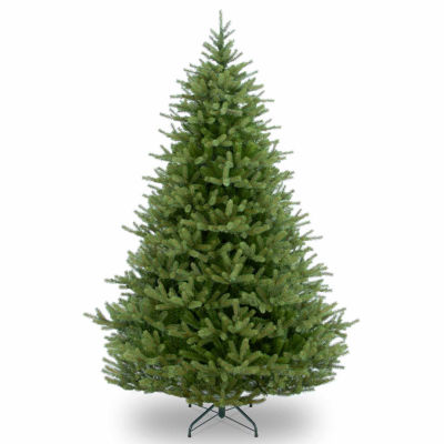 National Tree Co. 7 1/2 Foot Feel-Real Norway Spruce Hinged Christmas Tree