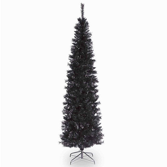National Tree Co. 6 Foot Black Tinsel Christmas Tree