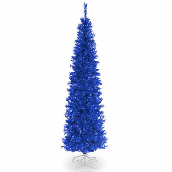 National Tree Co. 6 Foot Blue Tinsel Christmas Tree