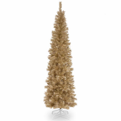 National Tree Co. 6 Foot Champagne Tinsel Christmas Tree
