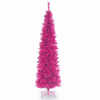 National Tree Co. 6 Foot Pink Tinsel Christmas Tree