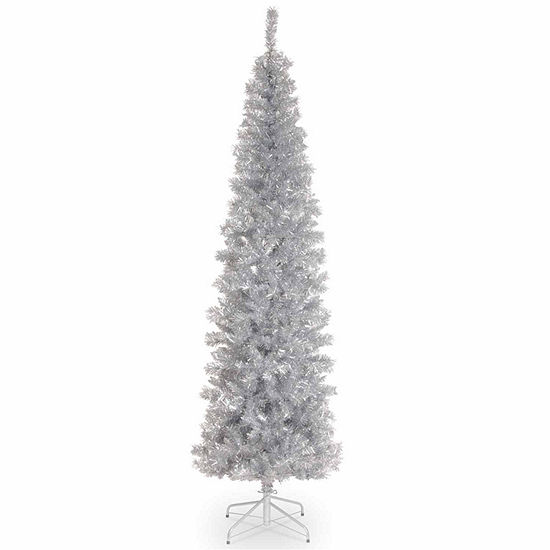 National Tree Co. 6 Foot Silver Tinsel Christmas Tree
