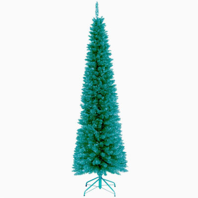 National Tree Co. 6 Foot Turquoise Tinsel Christmas Tree